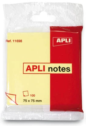 APLI NOTES 75×75 COLO. STANDARD Hanging blister